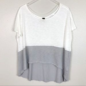 Free People Color Block Midnight Tee Oversized